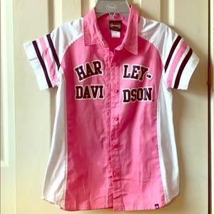 Girls Harley Davidson Bowling Shirt size 10/12